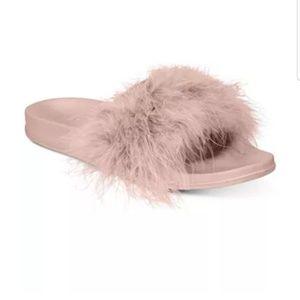 New! I.N.C International Concepts Fur Slides